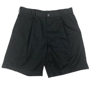 Nike Mens Pleated Front Black Chino Shorts Size 36